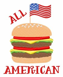 All American Burger embroidery design