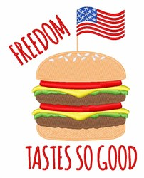 Freedom Burger embroidery design
