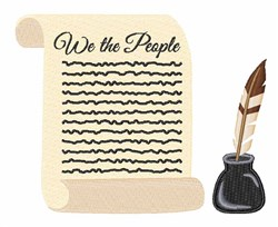 We The People embroidery design