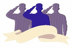 Soldiers Salute embroidery design