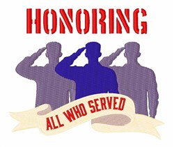 Honoring All Who Served embroidery design