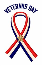 Veterans Day Ribbon embroidery design