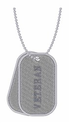 Veteran Dog Tags embroidery design