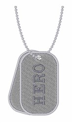 Hero Dog Tags embroidery design