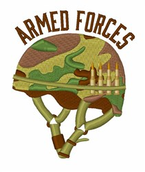 Armed Forces Helmet embroidery design