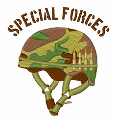 Special Forces Helmet embroidery design