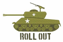 Roll Out Tank embroidery design