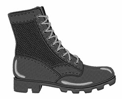 Combat Boot embroidery design