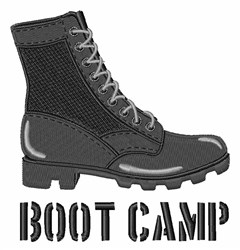 Boot Camp embroidery design