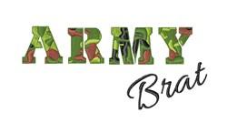 Army Brat embroidery design