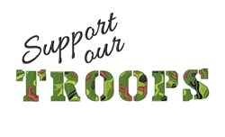 Support Our Troops embroidery design