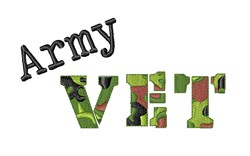 Army Vet embroidery design