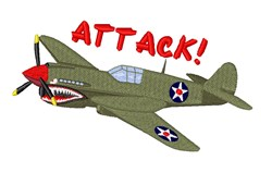 Airplane Attack embroidery design