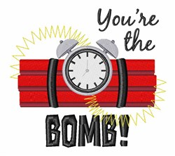 Youre The Bomb embroidery design