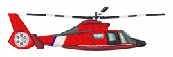 Coast Guard Helicopter embroidery design