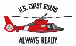 Always Ready Helicopter embroidery design
