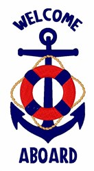Welcome Aboard embroidery design