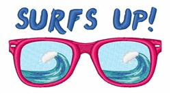 Surfs Up Sunglasses embroidery design