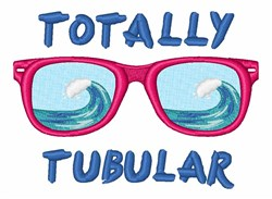 Totally Tubular Sunglasses embroidery design