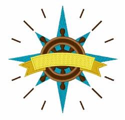Nautical Compass embroidery design