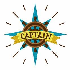 Captain Wheel embroidery design