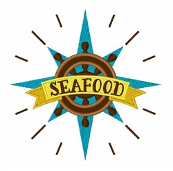 Seafood Wheel embroidery design