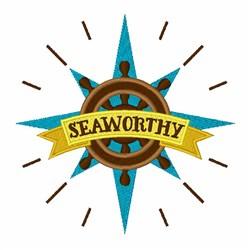 Seaworthy Wheel embroidery design