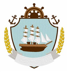 Ship Crest embroidery design