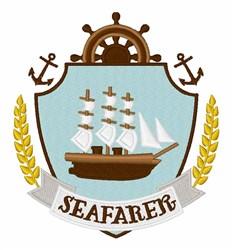 Seafarer Crest embroidery design
