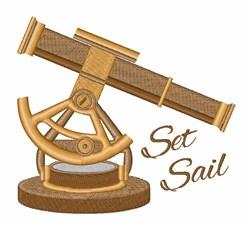 Set Sail Telescope embroidery design