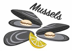 Mussels embroidery design