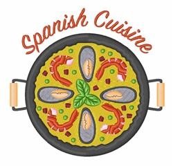 Spanish Cuisine embroidery design