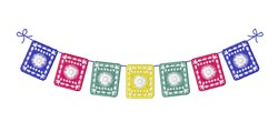 Mexican Banner embroidery design