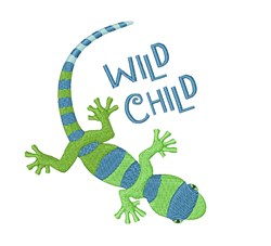 Wild Child Lizard embroidery design