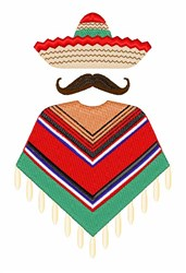 Mexican Man embroidery design