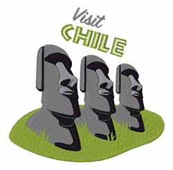 Visit Chile embroidery design