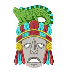 Mayan Mask embroidery design