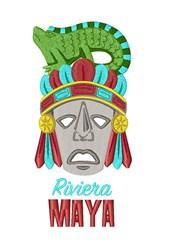 Riviera Maya Mask embroidery design