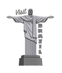 Visit Brazil Statue embroidery design