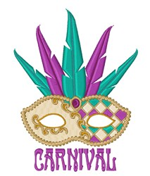 Carnival Mask embroidery design