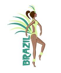 Brazil Woman Dancer embroidery design