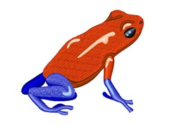 Poison Dart Frog embroidery design