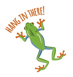 Hang In There Frog embroidery design