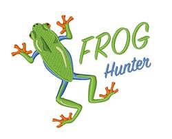 Frog Hunter embroidery design