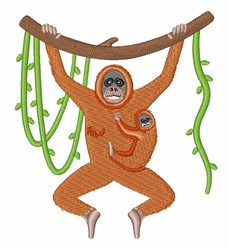 Orangutan embroidery design