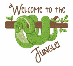 Welcome To Jungle Snake embroidery design