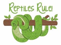 Reptiles Rule embroidery design