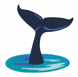 Whale Tail embroidery design