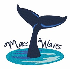 Make Waves embroidery design