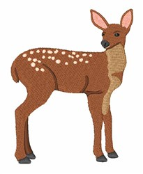 Deer Fawn embroidery design
